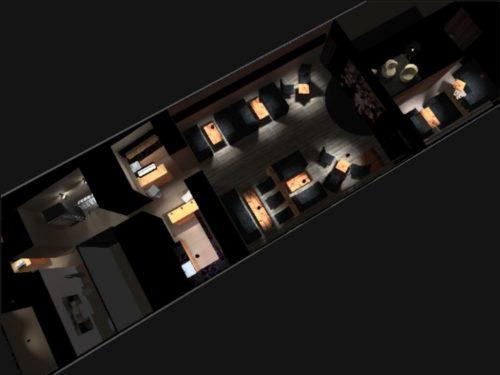 вид сверху на помещение